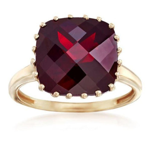 5 Ct. Garnet Statement Ring Garnet Engagement Ring HK Jewellers