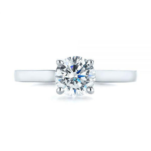 5mm Solitaire Wedding Ring Moissanite Engagement Ring HK Jewellers