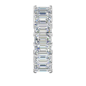 5X3mm Emerald Cut Moissanite Eternity Band Engagement Ring HK Jewellers
