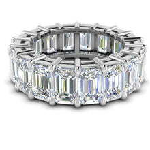 Load image into Gallery viewer, 5X3mm Emerald Cut Moissanite Eternity Band Engagement Ring HK Jewellers
