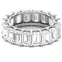 Load image into Gallery viewer, 5X3mm Emerald Cut Moissanite Wedding Band Wedding Band HK Jewellers