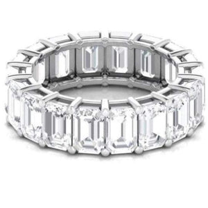 5X3mm Emerald Cut Moissanite Wedding Band Wedding Band HK Jewellers
