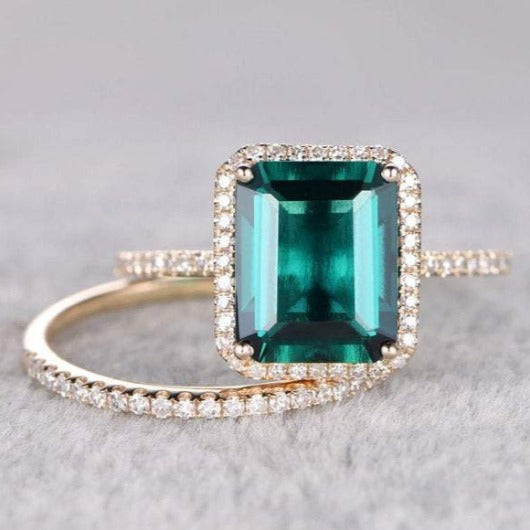6.3 Carat Natural Zambian Emerald Engagement Ring Engagement Ring HK Jewellers