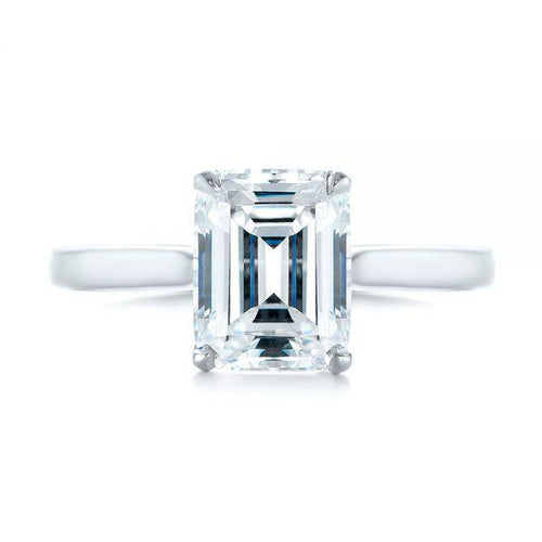 8X6 mm Emerald Cut Moissanite Engagement Ring Moissanite Engagement Ring HK Jewellers