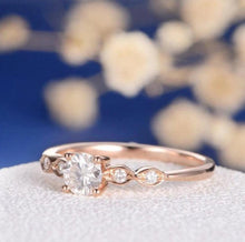 Load image into Gallery viewer, Art Deco Diamond Moissanite Engagement Ring Wedding Ring HK Jewellers