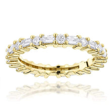 Load image into Gallery viewer, Baguette and Round Diamond Eternity Band Full Eternity Band HK Jewellers