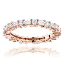 Load image into Gallery viewer, Baguette and Round Diamond Eternity Band Women Band HK Jewellers