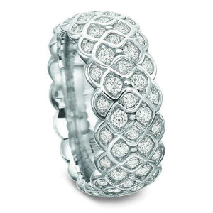 Baguette and Round Diamond Wedding Band Wedding Band HK Jewellers