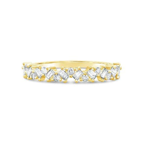 Baguette Round Moissanite Wedding Band Women Band HK Jewellers