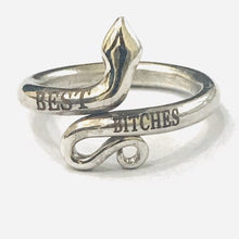 Load image into Gallery viewer, BEST BITCHES Jewelry Personalized Bridesmaid Gift Ring Custom RIng Snake Ring HK Jewellers