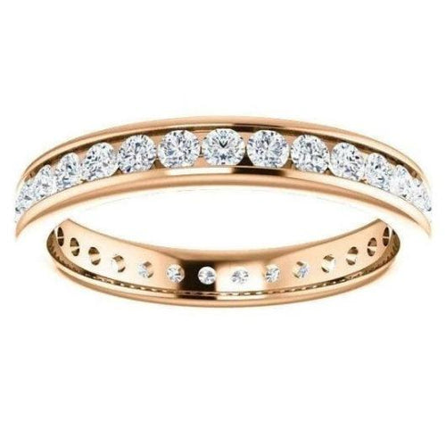 Channel Setting Moissanite Wedding Band Women Wedding Band HK Jewellers