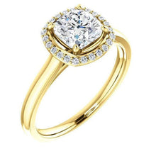 Load image into Gallery viewer, Cushion Moissanite Diamond Engagement Ring Engagement Ring HK Jewellers