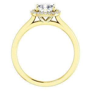 Cushion Moissanite Diamond Engagement Ring Engagement Ring HK Jewellers