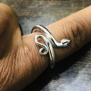 Custom Initial Ring - Stackable Initial Snake Ring - Personalized Jewelry Snake Ring HK Jewellers