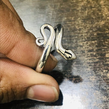 Load image into Gallery viewer, Custom Initial Ring - Stackable Initial Snake Ring - Personalized Jewelry Snake Ring HK Jewellers