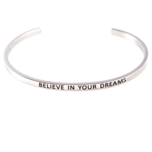 Customised Message Cuff Bracelet Bangle In Sterling Silver Gold Filled Jewelry Personalized Bracelet HK Jewellers