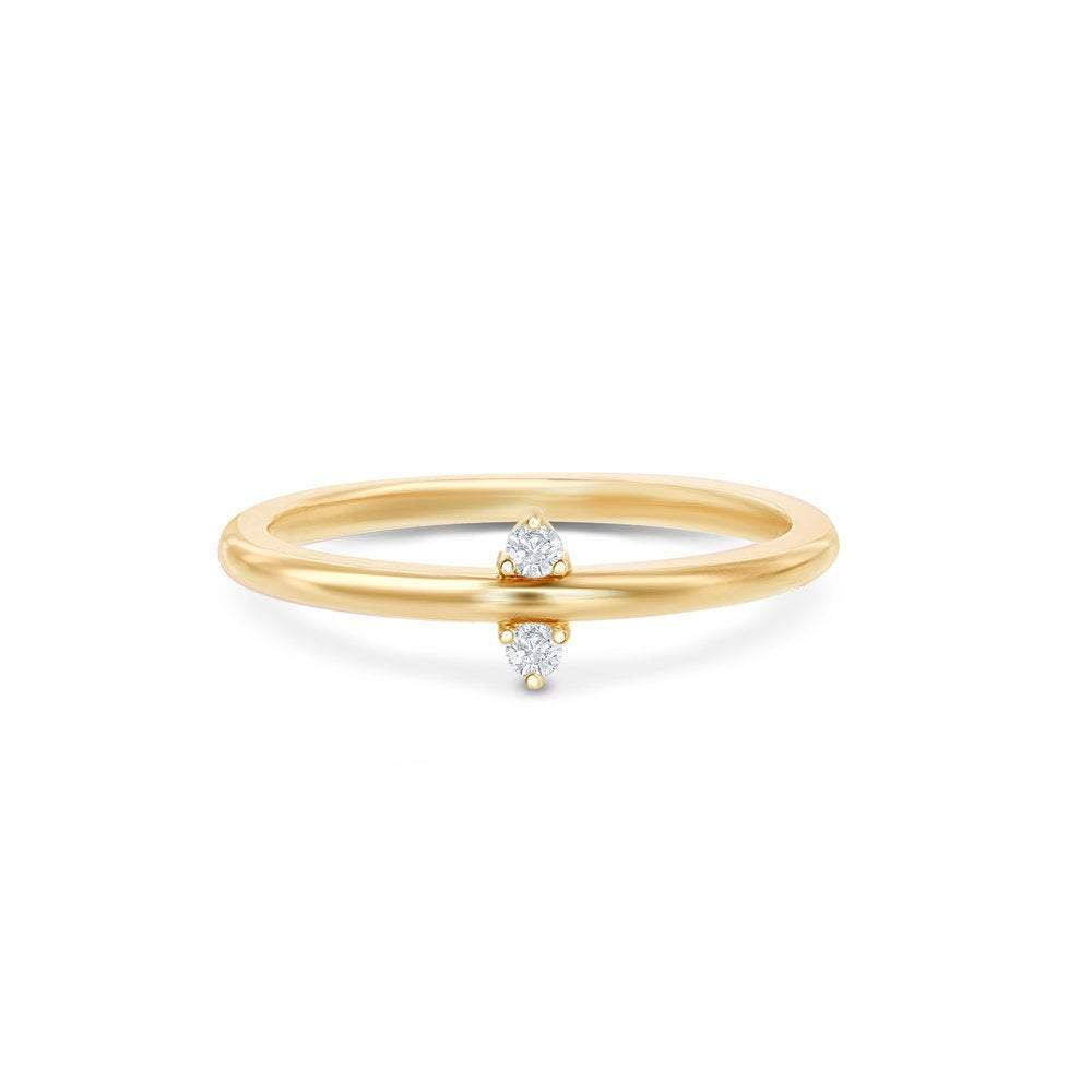 Dainty Stackable Moissanite Band Women Wedding Band HK Jewellers