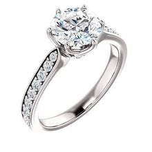 Load image into Gallery viewer, Diamond Moissanite Wedding Ring Engagement Ring HK Jewellers