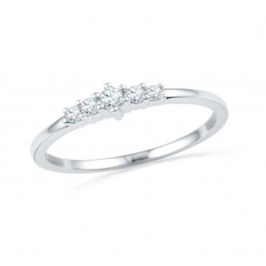 Diamond Wedding Engagement Anniversary Ring in 14K Solid White Gold for Women Diamond Ring HK Jewellers