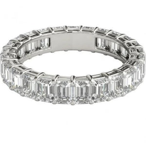 Emerald Cut Diamond Eternity Band Engagement Ring HK Jewellers