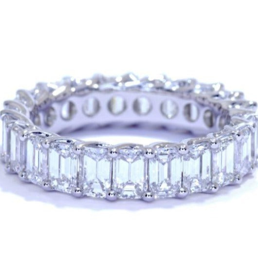 Emerald Cut Diamond Eternity Band Wedding Band HK Jewellers