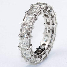 Load image into Gallery viewer, Emerald Cut Diamond Eternity Wedding Band Women Band HK Jewellers