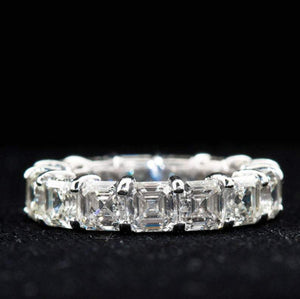 Emerald Cut Diamond Eternity Wedding Band Women Band HK Jewellers