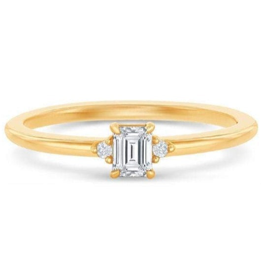 Emerald Cut Diamond Moissianite Ring Wedding Ring HK Jewellers