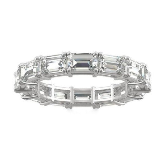 Emerald Cut Moissanite Wedding Band Wedding Band HK Jewellers