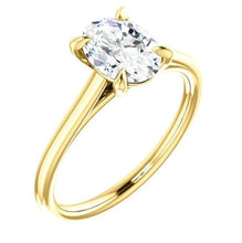 Load image into Gallery viewer, Four Claw Oval Moissanite Engagement Ring Wedding Ring HK Jewellers