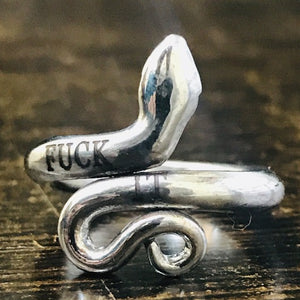 FUCK IT Best Gift for Boyfriend, Personalized Custom Name Ring Gift Snake Ring HK Jewellers