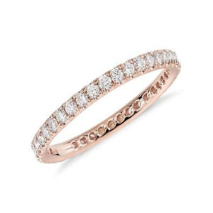 Full Eternity Diamond Band Wedding Band HK Jewellers US 0 Rose Gold