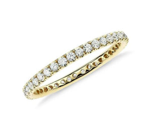 Full Eternity Diamond Band Wedding Band HK Jewellers US 0 Yellow Gold