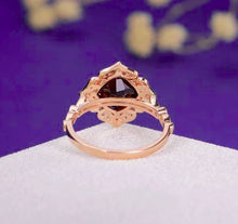 Load image into Gallery viewer, Garnet Vintage Statement Ring Garnet Engagement Ring HK Jewellers
