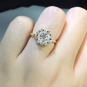 Halo Moissanite Diamond Engagement Ring Diamond Ring HK Jewellers