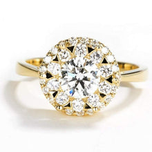 Load image into Gallery viewer, Halo Moissanite Diamond Engagement Ring Diamond Ring HK Jewellers
