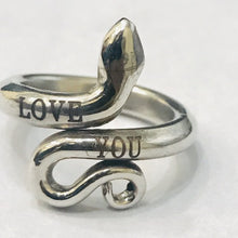 Load image into Gallery viewer, LOVE YOU Personalized Custom Ring, Name Ring, Boyfriend Girlfriends Gifts Snake Ring HK Jewellers