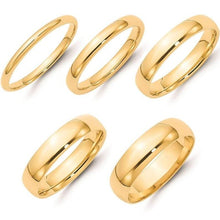 Load image into Gallery viewer, Men Wedding Band 14K Yellow Gold Engagement Band Ring 2MM 3MM 4MM Men Wedding Band HK Jewellers