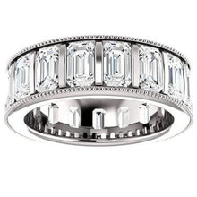 Load image into Gallery viewer, Moissanite Diamond Eternity Band Channel Set Wedding Band HK Jewellers
