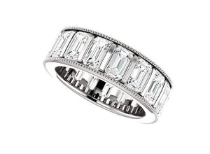 Moissanite Diamond Eternity Band Channel Set Wedding Band HK Jewellers