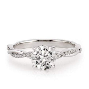 Moissanite Diamond Twist Engagement Ring Wedding Ring HKJ Wedding Ring