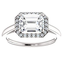 Load image into Gallery viewer, Moissanite Emerald Cut Engagement Band Women Band HK Jewellers