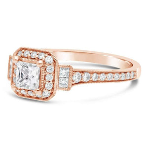 Moissanite Rose Gold Engagement Ring Engagement Ring HK Jewellers