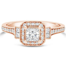 Load image into Gallery viewer, Moissanite Rose Gold Engagement Ring Engagement Ring HK Jewellers