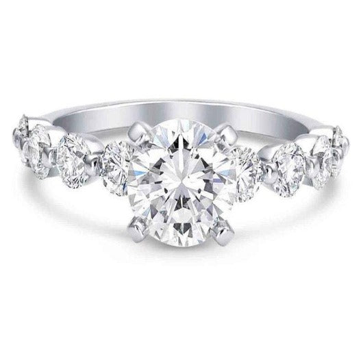 Moissanite Solitaire Diamond Wedding Ring Wedding Ring HK Jewellers