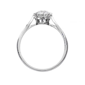 Moissanite Vintage Wedding Engagement Ring Vintage Ring HK Jewellers