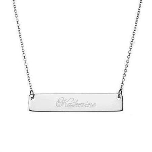 Name Bar Necklace Gold Filled Solid Sterling 925 Silver Jewelry Gift For love Friend Personalised Necklace HK Jewellers