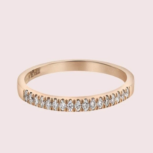 Natural Diamond Half Eternity Band Half Eternity Band HK Jewellers