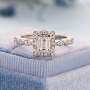 Natural Diamond Moissanite Engagement Ring Engagement Ring HK Jewellers