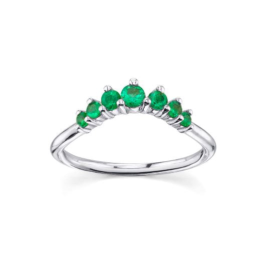 Natural Emerald Queen Ring Emerald Ring HK Jewellers US 0 White old